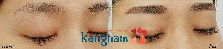 Tham khảo review của khách hàng về kết quả phun thêu chân mày Kangnam 2