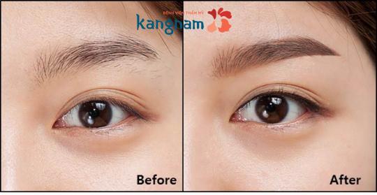 Tham khảo review của khách hàng về kết quả phun thêu chân mày Kangnam 1